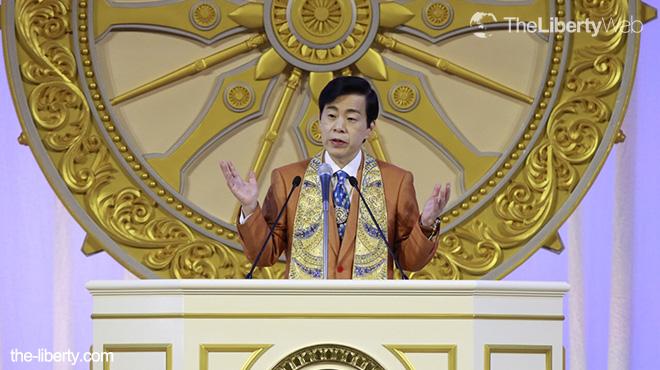 3月13日大川総裁写真
